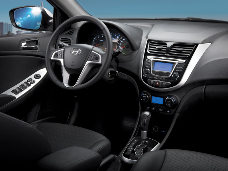 Hyundai Solaris sedan 2014 года фото салона