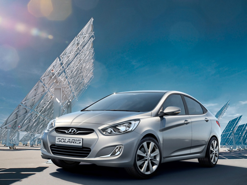 Hyundai Solaris sedan 2014 года фото автомобиля